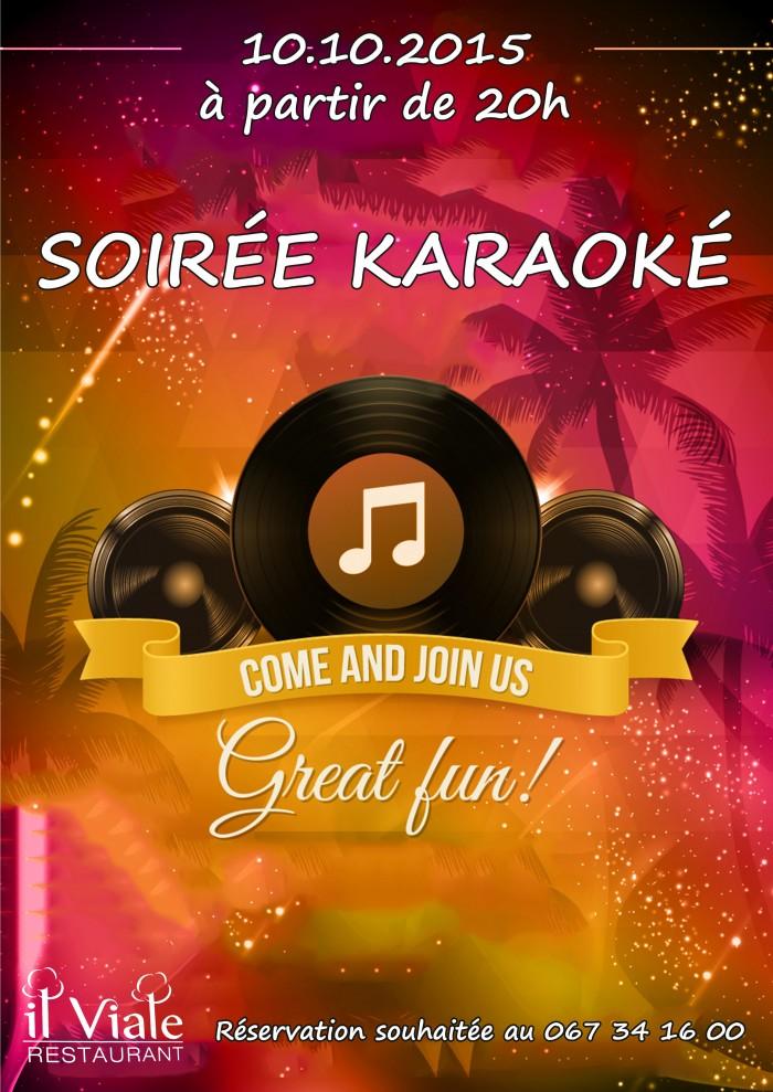 Affiche soirée karaoké 10 octobre