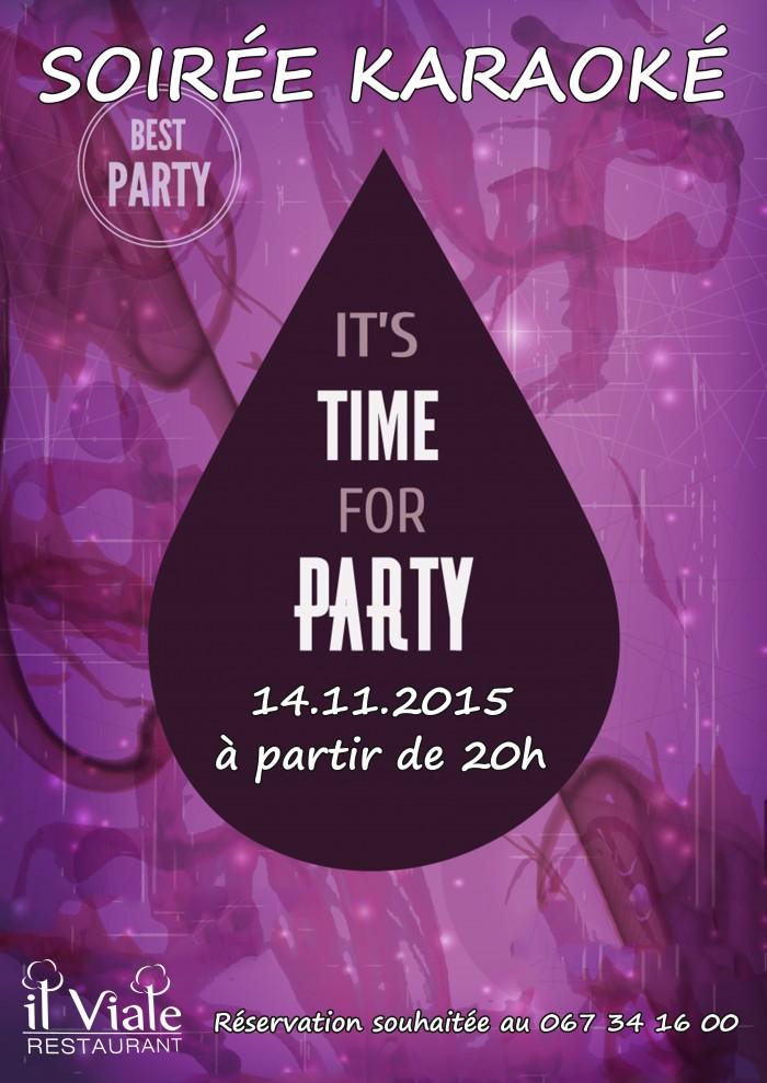 Affiche soirée karaoké 14 novembre