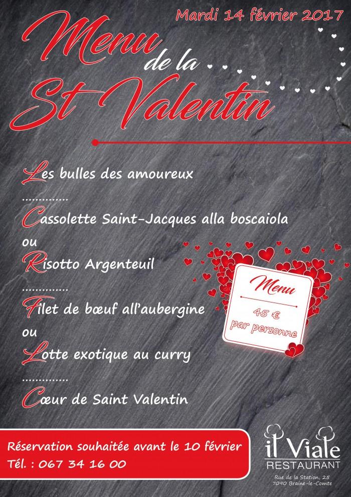 Il viale restaurant_Menu Saint Valentin 2017