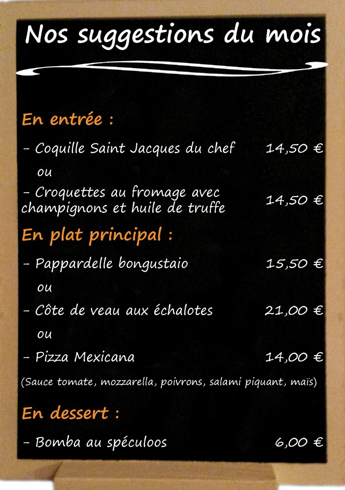 Restaurant il Viale_Suggestions mars 2017