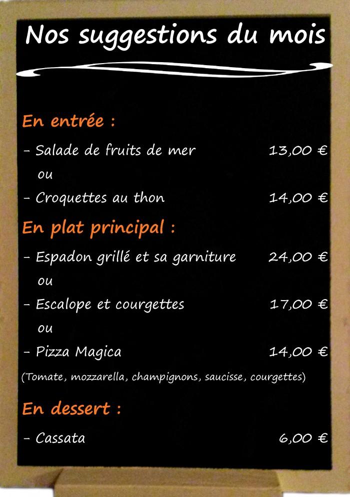 Restaurant il Viale_Suggestions juillet 2017