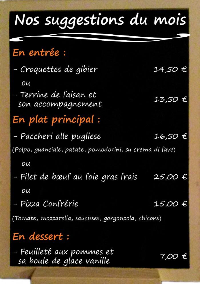 Restaurant il Viale_Suggestions octobre 2017