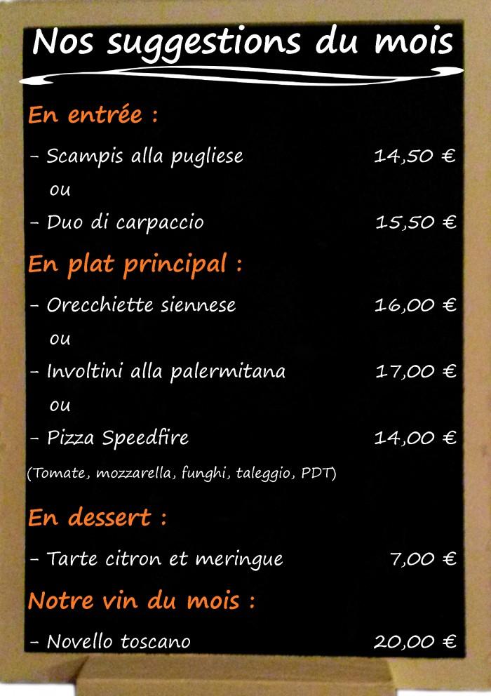 Restaurant il Viale_Suggestions novembre 2017