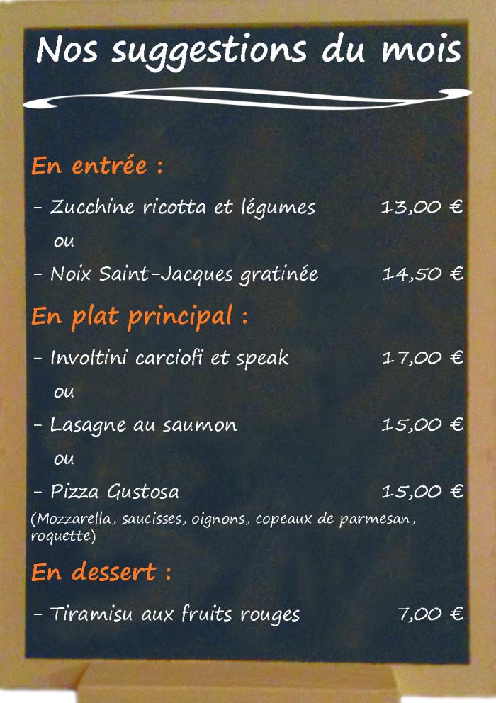 Restaurant il Viale_Suggestions février