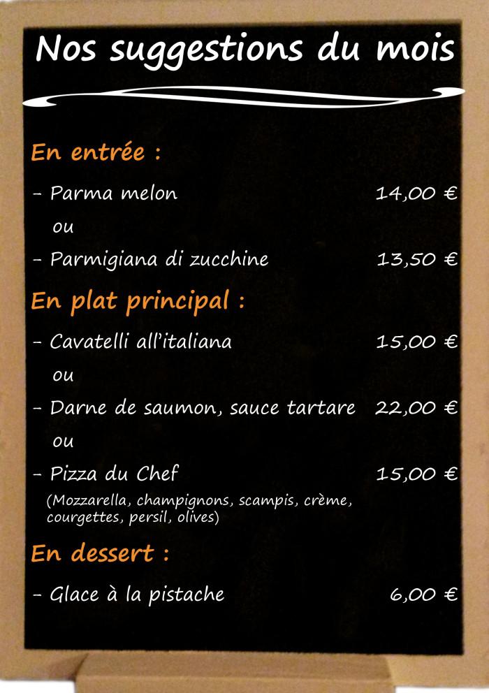 Restaurant il Viale_Suggestions juin 2018