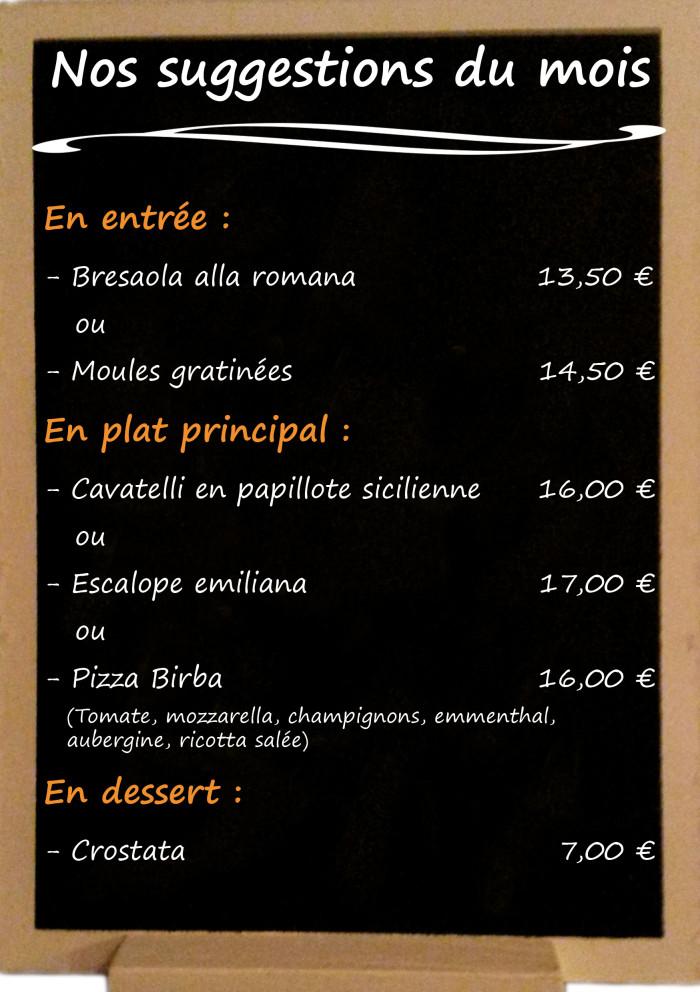 Restaurant il Viale_Suggestions septembre 2018(2)