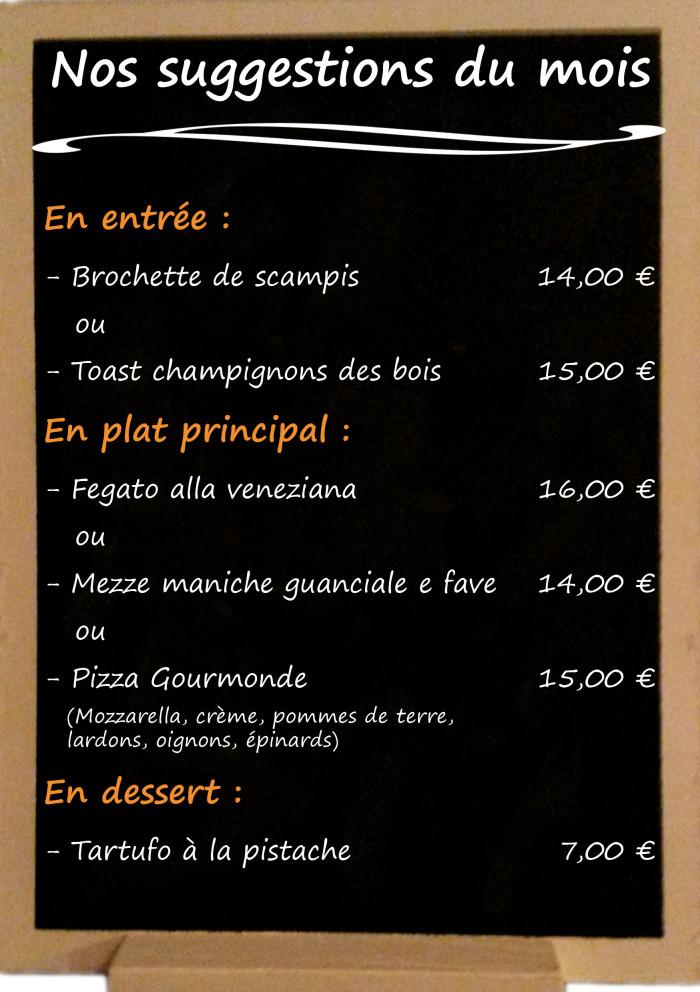 Restaurant il Viale_Suggestions octobre 2018