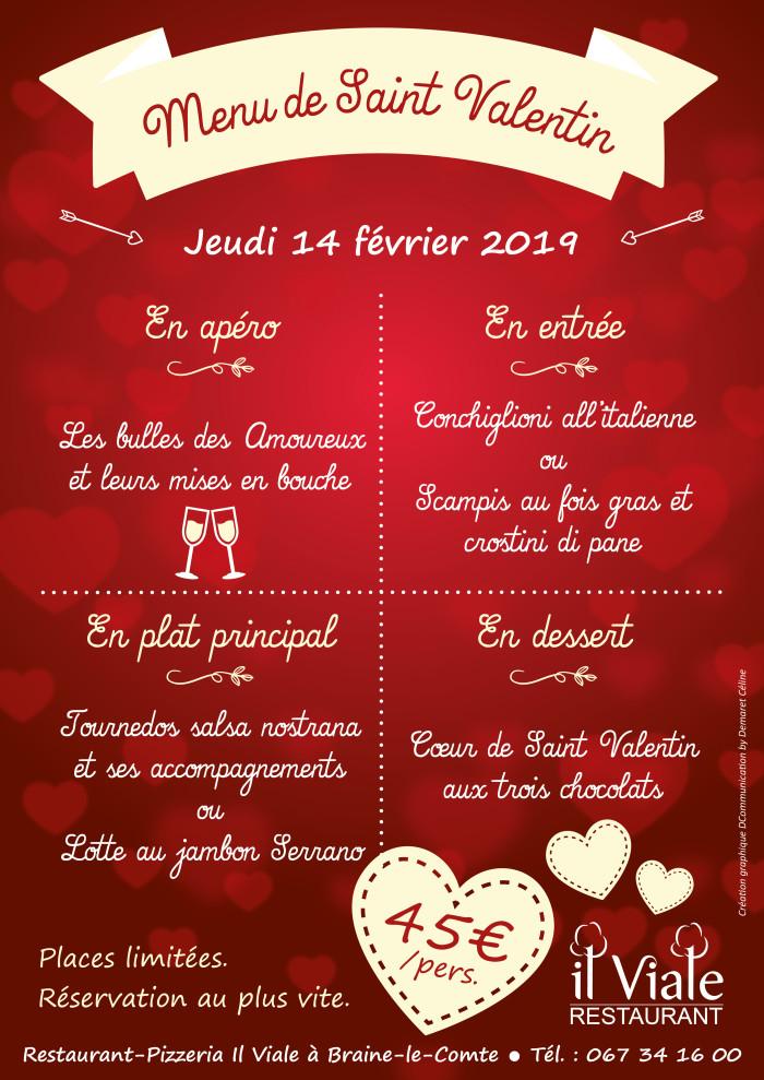 Il Vilale_Menu Saint Valentin 2019