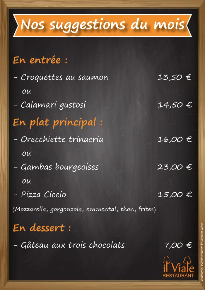 Restaurant il Viale_Suggestions février 2019