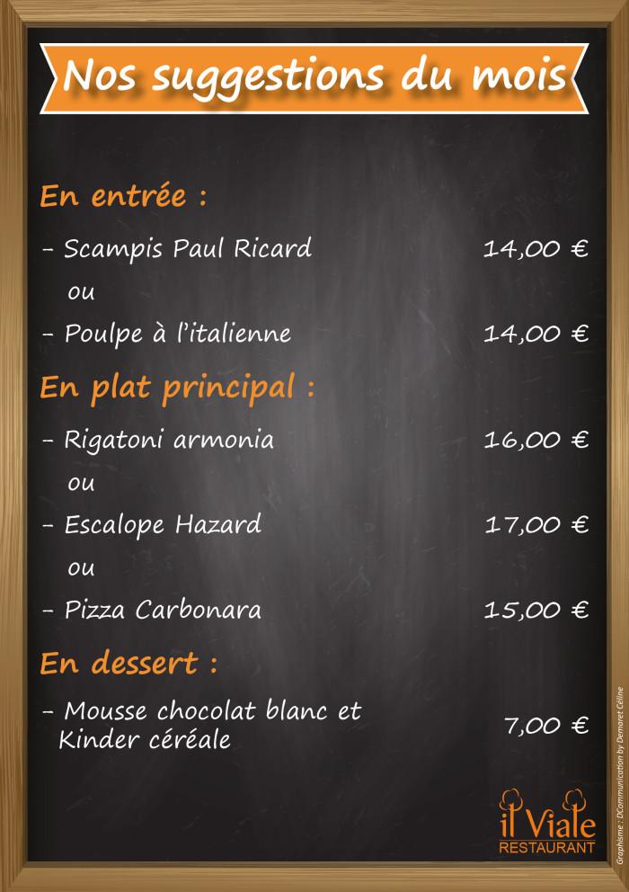 Restaurant il Viale_Suggestions janvier 2019(2)